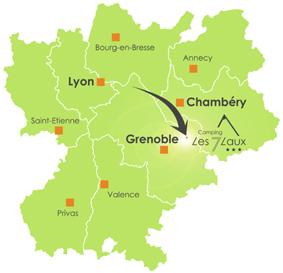camping les 7 Laux en Isère proche de Grenoble massif de Belledonne dans les Alpes