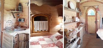 Camping les 7 Laux dormir une nuit en roulotte sejour insolite isere grenoble alpes week-end en amoureux