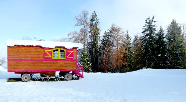 Camping les 7 Laux dormir une nuit en hiver sejour insolite isere grenoble alpes week-end en amoureux