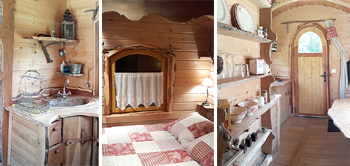 Les 7 Laux campsite sleeping in caravan roulotte unusual stay isere grenoble french alps romantic weekend