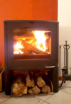 holiday gite french alps wood stove