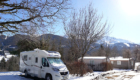 emplacement terrain de camping hiver isere camping-car grenoble alpes du nord